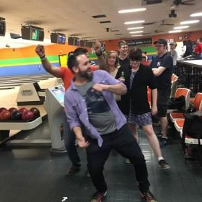 A bowling dance off